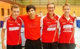 4. Jungen U 18 in der Vorrunde der Saion 2014.15: Manuel Mergenthaler, Mandes Steinwand, Jens Neubert und Titus Anderer