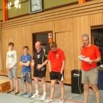 Siegerehrung Clickball und Kuno Walter Turnier