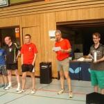 Siegerehrung durch Thomas Walter und Christian Leins Clickball und Kuno Walter Turnier