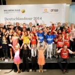 """Die Preisverleihung """"Das Grüne Band"""" am 13.10.2014 in Stuttgart. Mit dieser vom Deutschen Olympischen Sportbund und der Commerzbank geförderten Auszeichnung wird die Talentförderung in Sportvereinen honoriert. Der Preis ist auf 5000 Euro dotiert."""