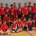 Jugendweihnachtsfeier Gruppenfoto Jugend mit Trainern