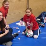 Jugendweihnachtsfeier - unsere Mädels: Lara Lidija und Jovana