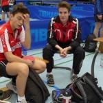 ein erschöpfter Moritz Feucht und ein zufriedener Coach Gabriel Gaa