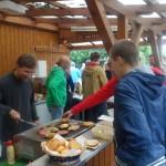 Vereinsfeier Grillmeister Alex Goerke und Stefan Molsner