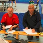 Mannschaftsführer Rainer Michel und Alfred Bauer