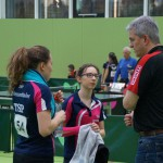 Doppel Ronja Kathrin mit Coach Thomas