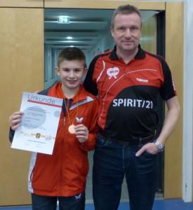 BaWÜ U13 Brieske Timo und Papa