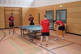 Warmspielen: Jens/Daniel vs. Kilian/Nikolas