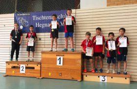 2016-06-11 Turnier in Hegnach (1) Doppel Siegerehrung U11