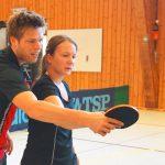 2016-08-28 DJK Saisonvorbereitungslehrgang (15) Sven Happek mit Meike Pfennig