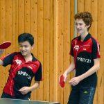 2017-10-07 Jugend-Bezirksmeisterschaften in der Halle Nord (63) Dominic Kaczmarek und Tillmann Summerer