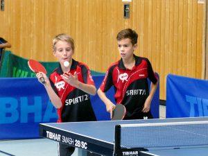 2017-10-07 Jugend-Bezirksmeisterschaften in der Halle Nord (79) Doppel Jonathan Fuchs, Luca Pollich