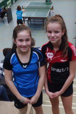 7. TTVWH JEM Mädchen U12 Doppel Julia Liebert und Jovana Nikolic