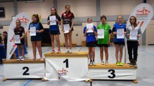 Siegerehrung Mädchen Doppel U13 Jovana Julia