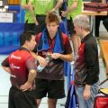 Hao Mu und Sven Happek, Coach Thomas Walter - 16.03.2019