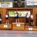 Turnier in Bietigheim 2019 Peter Waddicor Luca Pollich und Jannik Lippmann Jungen U13 Podest