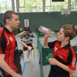 2019-06-02 DJK TT Bundes-Championat in Osterburg (157) Bernd Müller und Moritz Männle Coaching