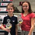 Württembergische Jahrgangsmeisterschaft Jonathan Fuchs und Jovana Nikolic 2020